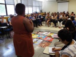 Representantes das escolas que aderiram ao uso do Indicadores da Qualidade na Educação Relações Raciais em Santo André. Plano de Educação do Município vem sendo escanteado. Foto: Stephanie Kim Abe