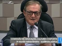 Ministro da Educação Ricardo Vélez em Audiência Pública no Senado Federal
