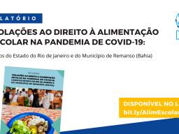 A Plataforma Dhesca Brasil disponibiliza o relatório da missão sobre Violações ao Direito à Alimentação Escolar na Pandemia de Covid-19: Casos do Estado do Rio de Janeiro e do Município de Remanso (Bahia).